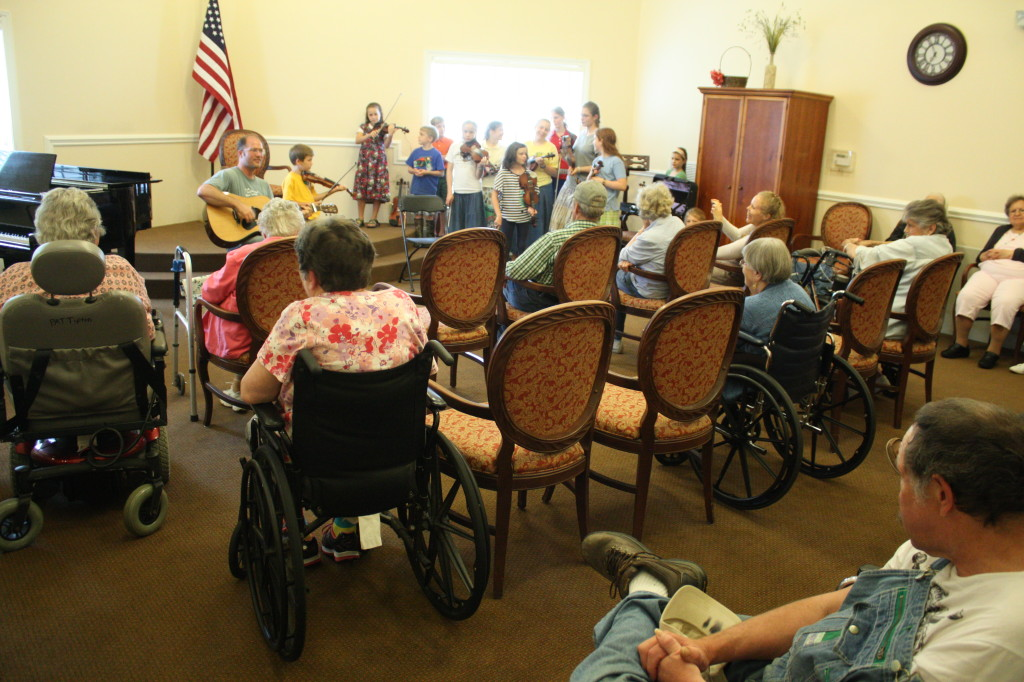 Fiddle Playing at the Nursing Home