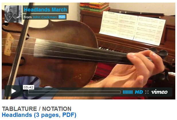 """This is an online fiddle lesson for the tune """"Headlands."""" BluegrassDaddy.com is your best source for Bluegrass, Old-Time, Celtic, Gospel, and Country fiddle lessons!"""