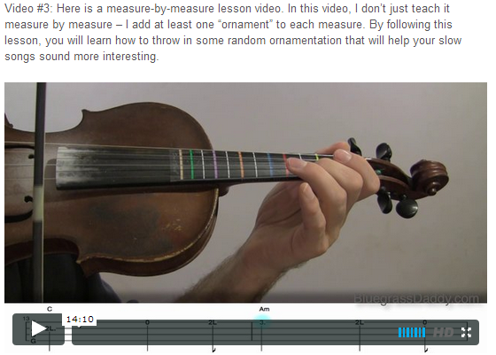 """This is an online fiddle lesson for the tune """"Loch Lomond."""" BluegrassDaddy.com is your best source for Bluegrass, Old-Time, Celtic, Gospel, and Country fiddle lessons!"""