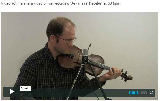 "This is an online fiddle lesson for the tune ""Arkansas Traveler."" BluegrassDaddy.com is your best source for Bluegrass, Old-Time, Celtic, Gospel, and Country fiddle lessons!"
