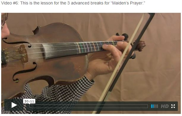 "This is an online fiddle lesson for the tune ""Maiden's Prayer."" BluegrassDaddy.com is your best source for Bluegrass, Old-Time, Celtic, Gospel, and Country fiddle lessons!"