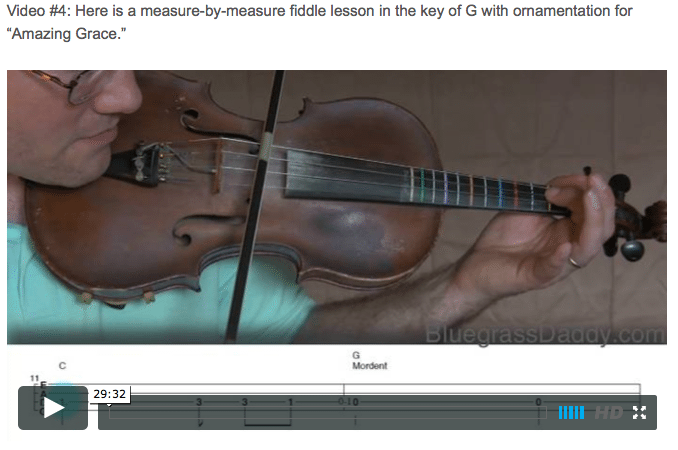 Amazing Grace – Bluegrass Daddy – Online Fiddle Lessons