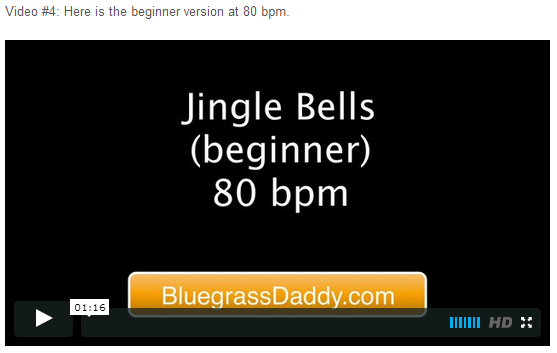 "This is an online fiddle lesson for the tune ""Jingle Bells."" BluegrassDaddy.com is your best source for Bluegrass, Old-Time, Celtic, Gospel, and Country fiddle lessons!"