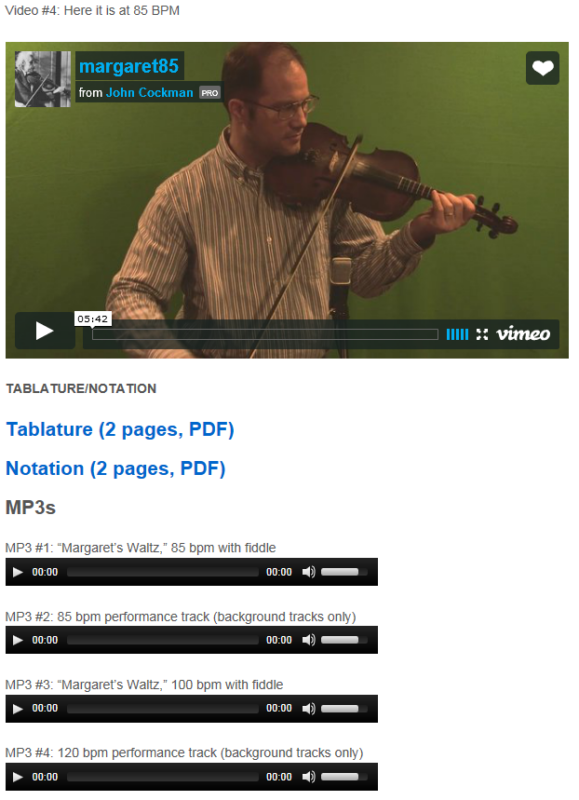 "This is an online fiddle lesson for the tune ""Margaret's Waltz."" BluegrassDaddy.com is your best source for Bluegrass, Old-Time, Celtic, Gospel, and Country fiddle lessons!"