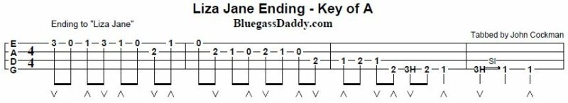 liza jane fiddle lesson tablature