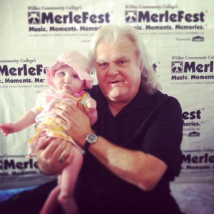 Little Madeline with Ricky Skaggs.