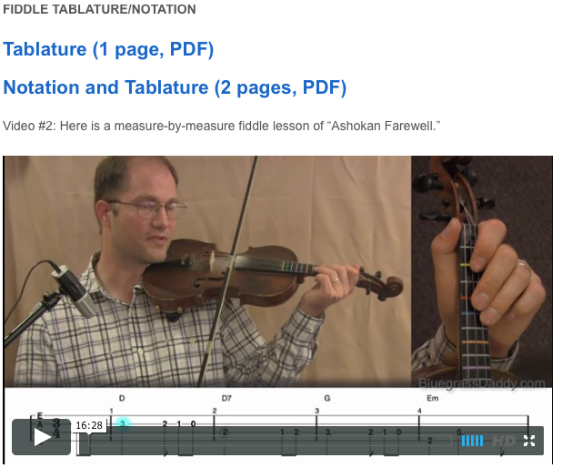Ashokan Farewell - Online Fiddle Lessons. Celtic, Bluegrass, Old-Time, Gospel, and Country Fiddle.