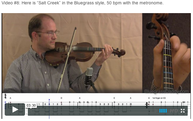 Salt Creek - Online Fiddle Lessons. Celtic, Bluegrass, Old-Time, Gospel, and Country Fiddle.