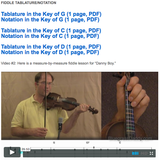 Danny Boy - Online Fiddle Lessons. Celtic, Bluegrass, Old-Time, Gospel, and Country Fiddle.