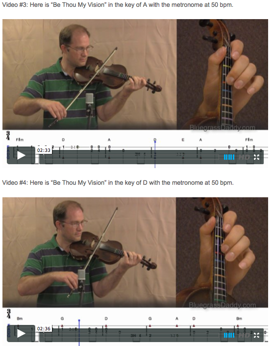 Be Thou My Vision - Online Fiddle Lessons. Celtic, Bluegrass, Old-Time, Gospel, and Country Fiddle.