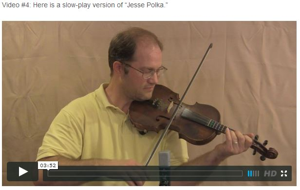 Jesse Polka - Online Fiddle Lessons. Celtic, Bluegrass, Old-Time, Gospel, and Country Fiddle.