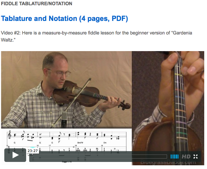Gardenia Waltz - Online Fiddle Lessons. Western Swing, Celtic, Bluegrass, Old-Time, Gospel, and Country Fiddle.