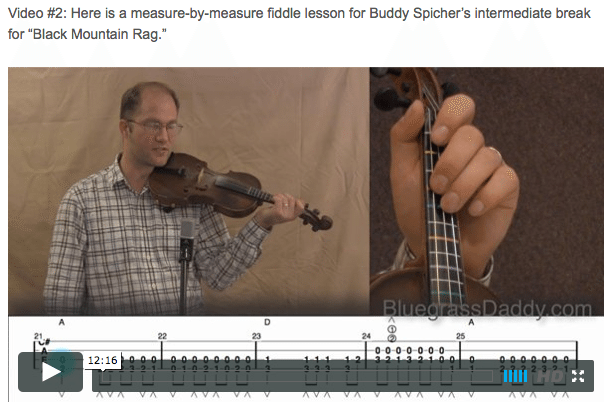 Black Mountain Rag - Online Fiddle Lessons. Celtic, Bluegrass, Old-Time, Gospel, and Country Fiddle.