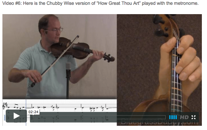 How Great Thou Art - Online Fiddle Lessons. Celtic, Bluegrass, Old-Time, Gospel, and Country Fiddle.