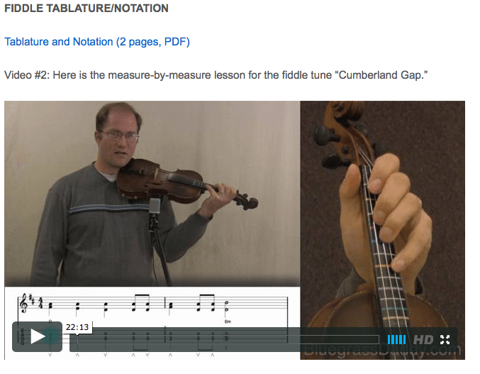 Cumberland Gap -  Online Fiddle Lessons. Celtic, Bluegrass, Old-Time, Gospel, and Country Fiddle.