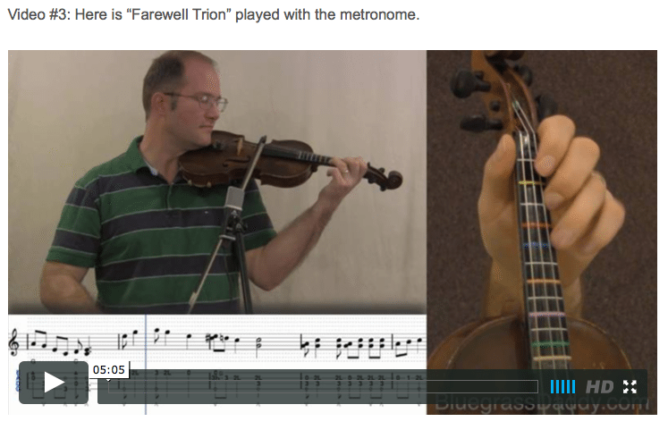 Farewell Trion - Online Fiddle Lessons. Celtic, Bluegrass, Old-Time, Gospel, and Country Fiddle.