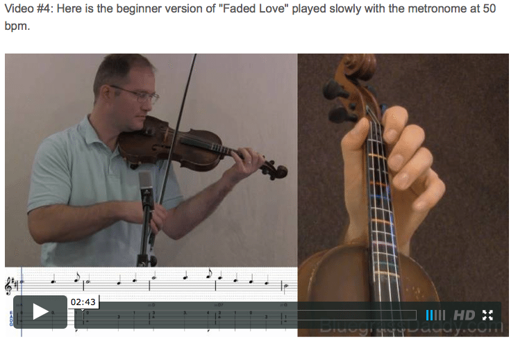 Faded Love - Online Fiddle Lessons. Celtic, Bluegrass, Old-Time, Gospel, and Country Fiddle.