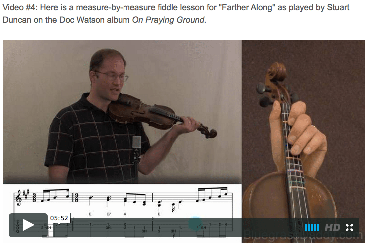 Farther Along - Online Fiddle Lessons. Celtic, Bluegrass, Old-Time, Gospel, and Country Fiddle.