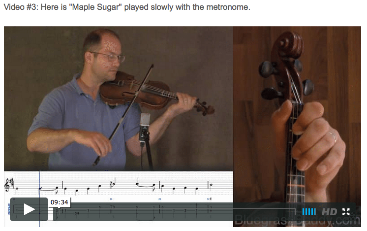 Maple Sugar - Online Fiddle Lessons. Celtic, Bluegrass, Old-Time, Gospel, and Country Fiddle.