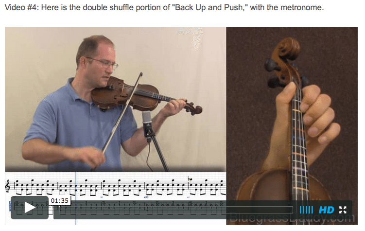 Back Up and Push - Online Fiddle Lessons. Celtic, Bluegrass, Old-Time, Gospel, and Country Fiddle.