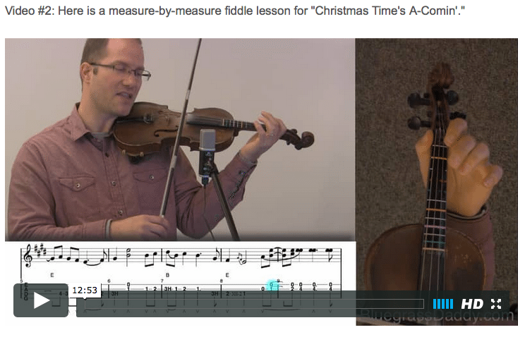 christmas times a coming online fiddle lessons celtic bluegrass old time