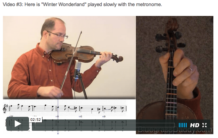 Winter Wonderland - Online Fiddle Lessons. Celtic, Bluegrass, Old-Time, Gospel, and Country Fiddle.
