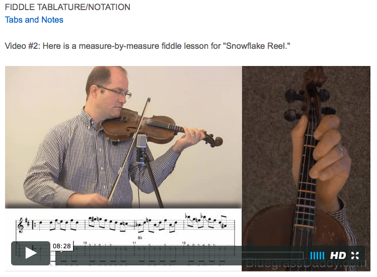 Snowflake Reel - Online Fiddle Lessons. Celtic, Bluegrass, Old-Time, Gospel, and Country Fiddle.