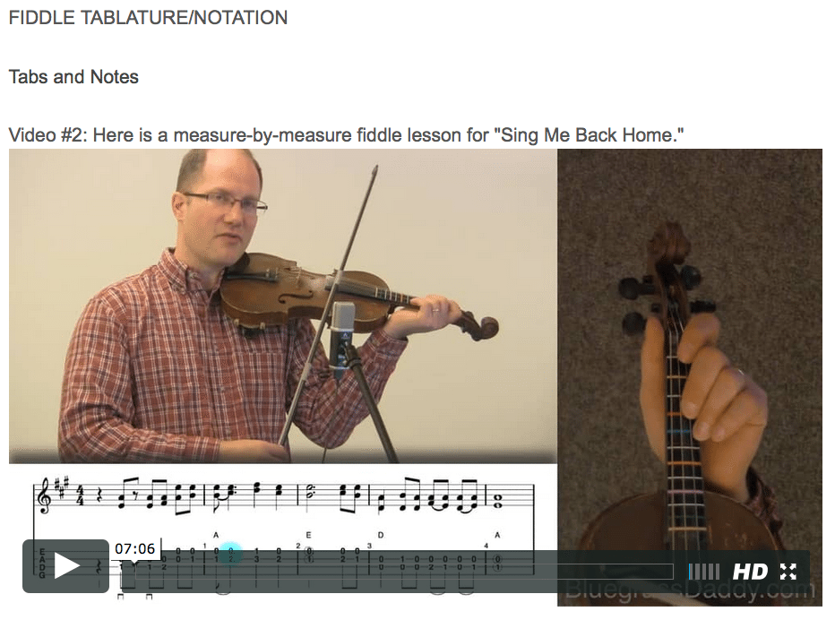 Sing Me Back Home – Bluegrass Daddy – Online Fiddle Lessons