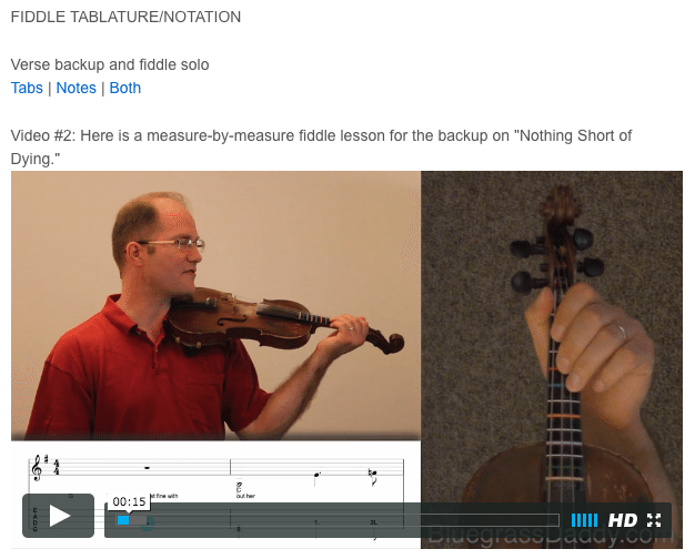 Nothing Short of Dying - Online Fiddle Lesson